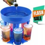 QuickShot Διανεμητής Ποτών σε 6 Χρωματιστά Σφηνοπότηρα για Ταυτόχρονη & Γρήγορη Γέμιση Ποτηριών & Εύκολη Μεταφορά