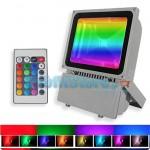 RGB LED Προβολέας 100W Αδιάβροχος με Τηλεχειρισμό & Εναλλασσόμενο Πολύχρωμο Φωτισμό
