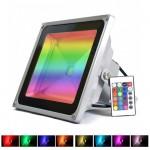 RGB LED Προβολέας 20W Αδιάβροχος με Τηλεχειρισμό & Εναλλασσόμενο Πολύχρωμο Φωτισμό