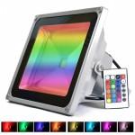 RGB LED Προβολέας 50W Αδιάβροχος με Τηλεχειρισμό & Εναλλασσόμενο Πολύχρωμο Φωτισμό