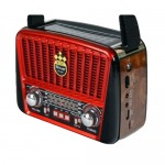 Retro Φορητό Ηλιακό Επαναφορτιζόμενο Ραδιόφωνο USB/TF Mp3 Player - Golon RX-455S