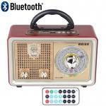 Retro Φορητό Επαναφορτιζόμενο Ραδιόφωνο Meier® - Multimedia Ηχείο MP3 Player με Bluetooth, USB, SD, AUX, FM Radio & Τηλεχειριστήριο