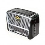 Retro Φορητό Ηλιακό Επαναφορτιζόμενο Ραδιόφωνο Bluetooth USB/MicroSD Mp3 Player - GOLON RX-BT456S Μαύρο