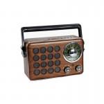 Retro Φορητό Επαναφορτιζόμενο Ραδιόφωνο - Multimedia Ηχείο MP3 Player με Bluetooth, USB, SD, AUX, FM Radio CMIK MK-613