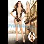 Sexy Κορμάκι με Σχέδιο Ρόμβους και Δίχτυ στο Μπούστο και στη Πλάτη 8985 - Sexy Lingerie