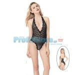 Sexy Κορμάκι Σιθρού με Δαντέλα στο Μπούστο 82018 - Sexy Lingerie Bodystockings