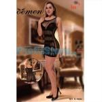 Sexy Μίνι Φόρεμα με Εωτυπωσιακά Σχέδια από Δίχτυ S-1023 - Sexy Lingerie Bodystockings
