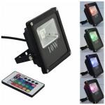 Ultra Slim RGB LED Προβολέας 10W Αδιάβροχος με Πολύχρωμο Φωτισμό & Τηλεχειρισμό