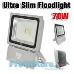 Slim Προβολέας LED 70W - Αδιάβροχος IP65 Υψηλής Απόδοσης - 80% οικονομία