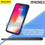 Slim Θήκη & Φορτιστής Powerbank για Iphone X Awei® 3200mAh για έως 120% Extra Μπαταρία - Charging Case