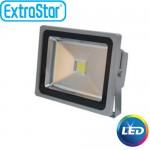 Slim Προβολέας LED 20W Ψυχρό Λευκό- Αδιάβροχος IP65 Υψηλής Απόδοσης - 80% οικονομία ExtraStar 18080
