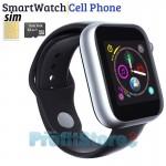 Smart Watch - Ρολόι Κινητό Τηλέφωνο Sim Handsfree με Οθόνη Αφής, Αισθητήρα Κίνησης, World Clock, Κάμερα, Βηματομετρητή, Μέτρηση Ύπνου, Facebook , Web