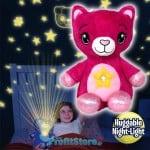Starry Teddy Προτζέκτορας Αστεριών, Λούτρινο Αρκουδάκι 30cm & Νυχτερινό Φωτιστικό LED Νανουρίσματος - Huggable Night Light Ροζ Bear