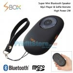 Super Mini Bluetooth Multimedia Speaker, MP3 Player, Hands Free & Selfie Remote VM-SBOX