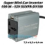 Super Mini Inverter Αυτοκινήτου 100W 12V - 220V SUVPR DY100