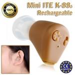 Super Mini Επαναφορτιζόμενο Ακουστικό Ενίσχυσης Ακοής & Βαρηκοίας ΙΤΕ K-88s