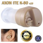 Super Mini Ακουστικό Ενίσχυσης Ακοής & Βοήθημα Βαρηκοΐας Axon ITE Κ80-V20 Original