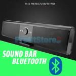 TV Soundbar Bluetooth Ηχείο - Επαναφορτιζόμενο Ηχοσύστημα USB, Micro SD, AUX & Τηλεχειριστήριο - Wireless  Μπάρα Τηλεόρασης MP3 Multimedia Player