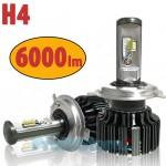 Turbo Led Λάμπες Φώτα Η4 Αυτοκινήτου Angle Adjust 360ᵒ 6000lumens (2x3000lm) 60W (2x30w) με Τεχνολογία CSP - Led Headlight T6