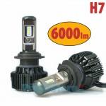 Turbo Led Λάμπες Φώτα Η7 Αυτοκινήτου Angle Adjust 360ᵒ 6000lumens (2x3000lm) 60W (2x30w) με Τεχνολογία CSP - Led Headlight T6