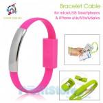 USB Bracelet Καλώδιο Φόρτισης & Data για Smartphones και iPhone 5/6 22cm