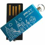 USB Stick 4GB PNY CITY Blue/Rose