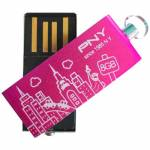 USB Stick 8GB PNY CITY Blue/Rose