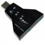 USB Εξωτερική Κάρτα Ήχου Virtual 7.1ch Double Headset