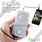 U-Music Φορητό Ηχείο USB/SD Player Multimedia Speaker - FM Radio