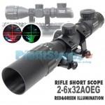 Ultra Compact Διόπτρα Μονόκυαλο Σκοπευτικό - Hunting Rifle Scope 2-6 Χ 32 AOEGB illuminated Zoom