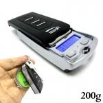 Ultra Mini Ψηφιακή Ζυγαριά Ακριβείας 0,01gr - 200gr - Μπρελόκ Κλειδιών
