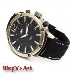 Unisex Sport ρολόι με λουράκι από καουτσούκ & καντράν 50mm Utopia's Art