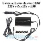 Universal Φορτιστής - Τροφοδοτικό για Laptop 100W με θύρα USB - 12V/220V