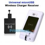 Universal Ασύρματος Δέκτης Φόρτισης Qi Wireless Charger Receiver για microUSB Κινητά