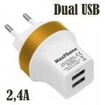 Universal Ισχυρός Φορτιστής με Δύο USB Θύρες 2,4Α SSJ-525