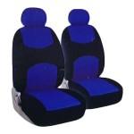 Universal Καλύμματα Καθίσματος Αυτοκινήτων Μπλε-Μαύρο 4 Τεμάχια Carsun