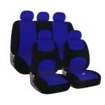 Universal Καλύμματα Καθίσματος Αυτοκινήτων Μπλε-Μαύρο 9 Τεμάχια Carsun