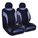Universal Καλύμματα Καθίσματος Αυτοκινήτων Γκρι-Μαύρο 4 Τεμάχια Carsun