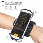 Universal Θήκη Κινητού για Περικάρπιο - Wristband Sport Support For Mobile Phones Μαύρο
