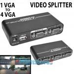 Video Splitter 1 VGA σε 4 VGA 1920 x 1440 με Ενισχυτή Εικόνας & Ήχου - Διανεμητής Έγχρωμης Εικόνας για Υπολογιστές, Βιντεοπροβολείς