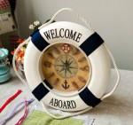 Vintage Ναυτικό Ρολόι Τοίχου - Welcome Abroad Clock