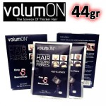 VolumON Hair Building Fibers Refill Pack 44gr Μαύρο