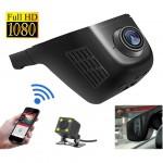 Wifi Κρυφή Κάμερα Αυτοκινήτου Full HD με Ανίχνευση Κίνησης G sensor & Κάμερα Οπισθοπορείας
