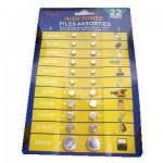 Σετ 22 Τεμαχίων Μπαταριών Λιθίου Microcell Button ( Κουμπιά )