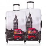 Σετ 2 Βαλίτσες Ταξιδιού ABS με Τηλεσκοπικό Χερούλι, Ροδάκια & Κλείδωμα Ασφαλείας London