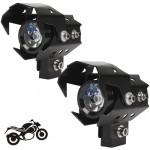 Σετ 2 Προβολέων Μοτοσυκλέτας Cree LED 6000K Cool 125W Hi/Lo & Flashing