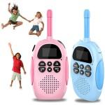 Σετ 2 Παιδικά Ασύρματα  Walkie Talkie με Φακό LED με VOX & 22 Κανάλια - Πομποδέκτες Children Intercom - Χρώματος Μπλε & Ροζ