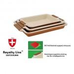 Σετ 3 Ταψιά Royalty Line με BIO Anti-Bacterial Κεραμική Επίστρωση
