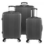 Σετ 3 Βαλίτσες Ταξιδίου ABS, Τηλεσκοπικό Χερούλι & Διπλά Ροδάκια 360ο