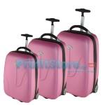 Σετ 3 Βαλίτσες Ταξιδιού ABS με Τηλεσκοπικό Χερούλι, Ροδάκια & Λουκέτο Ασφαλείας Holy 41024